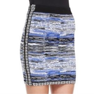 Parker Napoleon Spacedye Mini Skirt Stripe Print